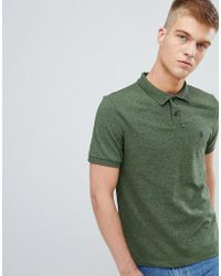 Original Penguin - Chunky Rib Mouline Polo Slim Fit Embroidered Logo In Dark Green Marl - Lyst