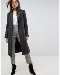ASOS - Slim Coat With Pocket Detail In Texture - Lyst