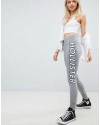 Hollister - Taped Logo Cuffed Sweatpant - Lyst