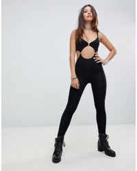 Motel - Halloween Unitard With Cut Out Chain Detail - Lyst