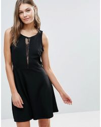 Dex - Skater Dress With Mesh Panel - Lyst