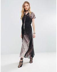Religion - Succession Tie Waist Maxi Dress - Lyst