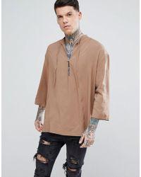 ASOS - Oversized Viscose Over Head Shirt - Lyst