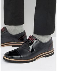 Ted Baker - Braythe 2 Derby Shoes In Black Leather - Lyst