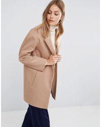 ASOS - Boyfriend Coat In Cocoon Fit - Lyst