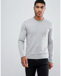 Armani Exchange - Crew Neck Cashmere-mix Chest Logo Jumper In Grey - Lyst