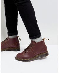 Dr. Martens - Church Monkey Lace Up Boots In Oxblood - Lyst