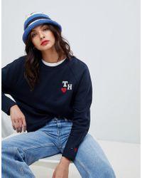 Tommy Hilfiger - Tommy X Love Initials Logo Sweatshirt - Lyst