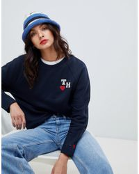 0ebbd44fe4c Lyst - Tommy Hilfiger Tommy Jeans 90s Capsule Contrast Crop Hoodie ...