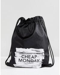 Cheap Monday - Paint Brush Logo Drawstring Bag - Lyst