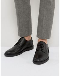 SELECTED - Royce Desert Leather Shoes In Black - Lyst