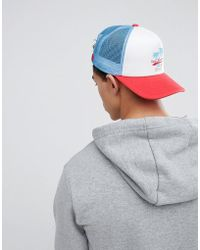 11 Degrees - Trucker Cap With Surf Embroidery - Lyst