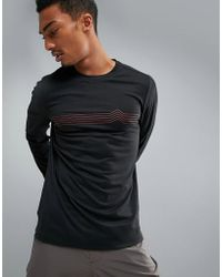 Perry Ellis - 360 Sports Long Sleeve Top Heartbeat Print In Black - Lyst