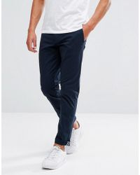 Original Penguin - Slim Fit Chinos In Navy - Lyst