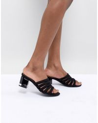 88f44e2174f2 Lyst - Call It Spring Perren Chunky Studded Heeled Gladiator Sandal ...