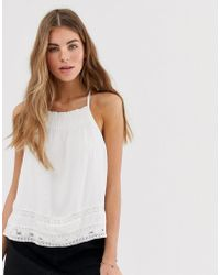 Hollister Summer Cami With Lace Detail