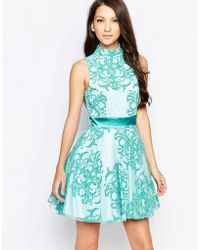 Key Collections - Ashley Roberts For Aquarius High Neck Skater Dress - Lyst