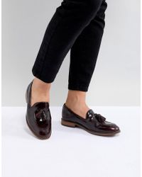 H by Hudson - Leather Tassle Flat Shoes - Lyst