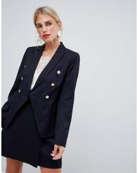 Reiss - Button Double Breasted Jacket - Lyst