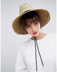 Weekday - Straw Hat - Lyst