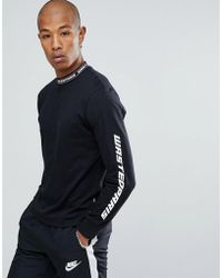 Wasted Paris - Squadra Long Sleeve T-shirt In Black - Lyst