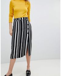 Bershka - Midi Skirt In Multi Stripe - Lyst