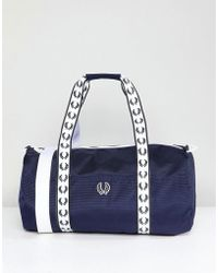 Fred Perry - Track Barrel Bag In Navy - Lyst