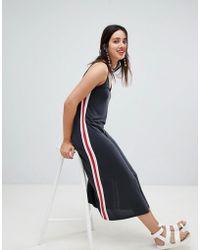 Stradivarius - Side Stripe Cami Dress Plain - Lyst