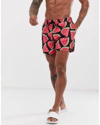 New Look - Swimshorts In Watermelon Print - Lyst