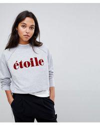 SELECTED - Femme Slogan Sweatshirt - Lyst