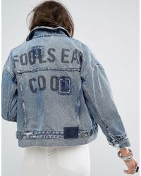 One Teaspoon - Denim Jacket With Stepped Hem - Lyst