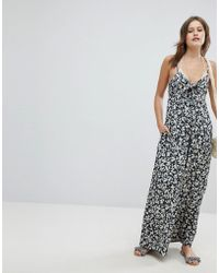 Billabong - Floral Beach Jumpsuit - Lyst