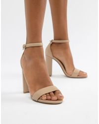 f008281be61 Lyst - Steve Madden Slither Caged Heeled Sandals in Metallic