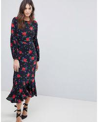 Fashion Union - Maxi Prairie Dress With Balloon Sleeves - Lyst