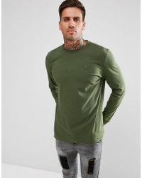 Psycho Bunny - Long Sleeve Top Crew Neck Regular Fit In Green Marl - Lyst
