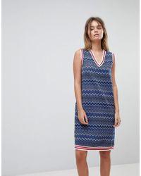 DIESEL - Glitter Stripe Dress With Tipping Detail - Lyst