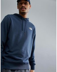The North Face - Drew Peak Pullover Hoodie In Navy - Lyst