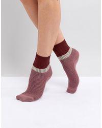 Vero Moda - Knitted Socks - Lyst