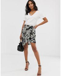 Vila - Oversize Paisley Skirt - Lyst