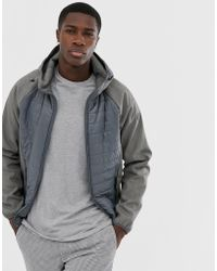Esprit - Quilted Body Jacket In Grey - Lyst