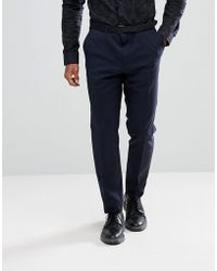 HUGO - Hugo Slim Fit Stretch Suit Trousers In Navy Suit 7 - Lyst