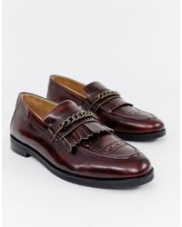 04ecd63b1e1 House Of Hounds - Archer Chain Loafers In Burgundy - Lyst