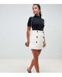 ASOS - Asos Design Petite Exclusive Double Breasted Mini Skirt - Lyst