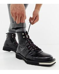 ASOS - X Laquan Smith Leather Lace Up Boot - Lyst
