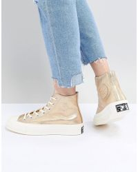 a119963309bb Converse Premium Spotted High Top Sneakers in Yellow - Lyst