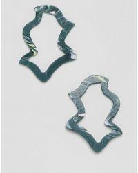 ASOS - Design Earrings In Abstract Shape In Resin - Lyst
