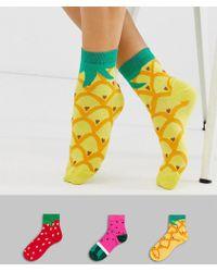 ASOS - 3 Pack Fruit Socks - Lyst