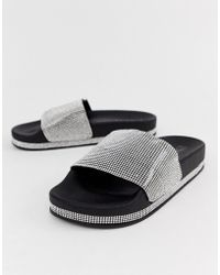Truffle Collection - Diamante Slides - Lyst