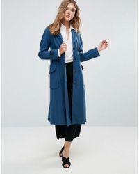 Closet - Wardrobe Button Pocket Wool Coat - Lyst