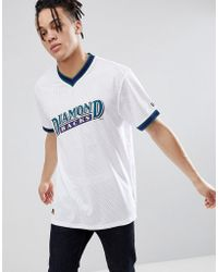 KTZ - Arizona Diamond Backs Mesh T-shirt In White - Lyst